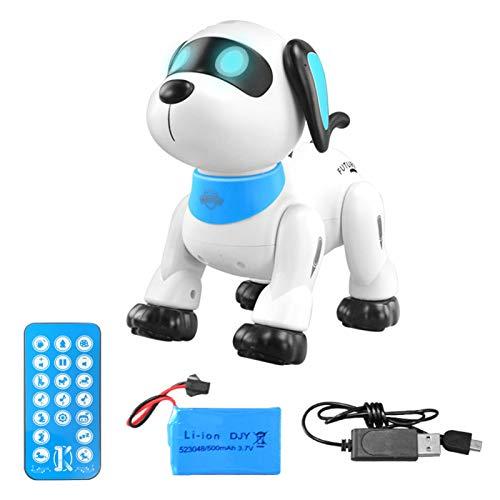 Strety Robo Pets Robot para perros Smart Control Remoto Robot Cachorro Juguete Interactivo Juguetes para Niños y Niñas Flip Over Smart Puppy Toy Robot Operado con pilas Caminar