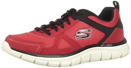 Skechers Herren-Sneaker Track-scloric 52631-bbk, knöchelfrei, Rot - rot / schwarz - Größe: 45 EU