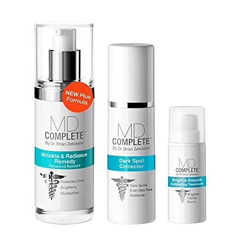 MD Complete Dark Spot Essentials (Dark Spot Corrector + Wrinkle Radiance Remedy PLUS + Bright Smooth Exfoliating Treatment) Trio Kit
