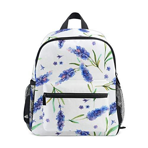 JinDoDo Kids Backpack Vintage Floral White Flower Children's School Bag for Kindergarte Preschool Boys Girls with Chest Clip
