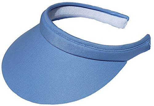 Cushees Cloth Covered Clip-On Visor [233] (Light Blue)