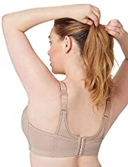 Glamorise Women's Full Figure MagicLift Seamless Wirefree Sports Bra #1006 Full Cup Full Coverage Bra, Beige (Cafe 211), 40H (Manufacturer Size:40H) #1