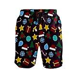 NO Bañador para hombre con bolsillos de secado rápido, pantalones cortos de playa con cintura elástica y forro de malla, multicolor, L