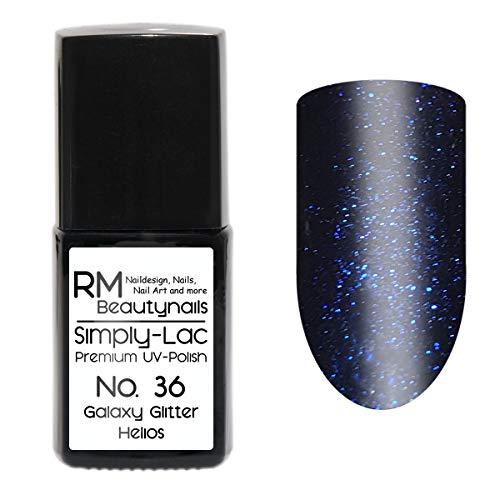 Simply-Lac Premium UV-Lack Nr. 36 Galaxy Glitter Helios Blau 10ml Nagelgel UV-Nagellack