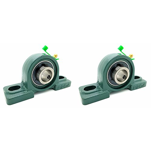 "Two (2) UCP204-12 Cast Iron Pillow Block Mounted Bearings - 3/4"" Inch Inside Diameter w/Set Screw Lock - P204"