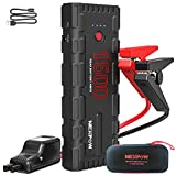 NEXPOW G17 Booster Batterie, 1500A Peak 21800mAh 12V Portable Jump Starter (Jusqu'à 6.5L Essence/4L Diesel), Démarrage de Voiture avec USB Câble QC 3.0 et Lamp LED
