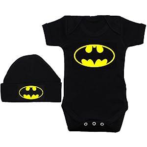 Body bebé Batman murciélago logo con chupete - Negro, 12-18 ...
