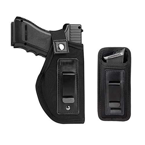 CIJK Funda para Pistola Y Soporte Magnético para Transporte Oculto Se Adapta A: S&W M&P Shield Glock 17 19 23 26 27 42 43