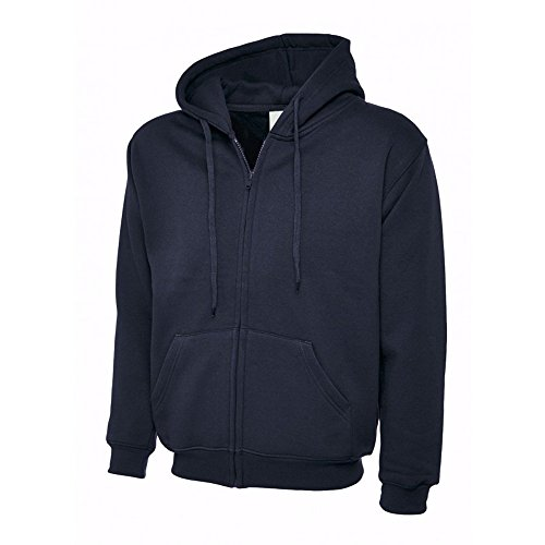 41FtcvZWKTL. SS500  - Uneek UC504 Polyester Cotton Unisex-Adults Classic Full Zip Hooded Sweatshirt