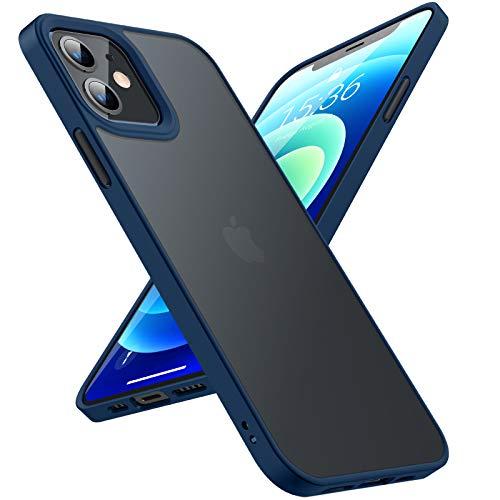 TORRAS Guardian für iPhone 12 Hülle/iPhone 12 Pro Hülle [Echter Militärischer Schutz] Stoßfeste Schlank Kratzfest [Matte Silikon Handgriff] Leicht Durchsichtige Handyhülle iPhone 12/12 Pro Blau