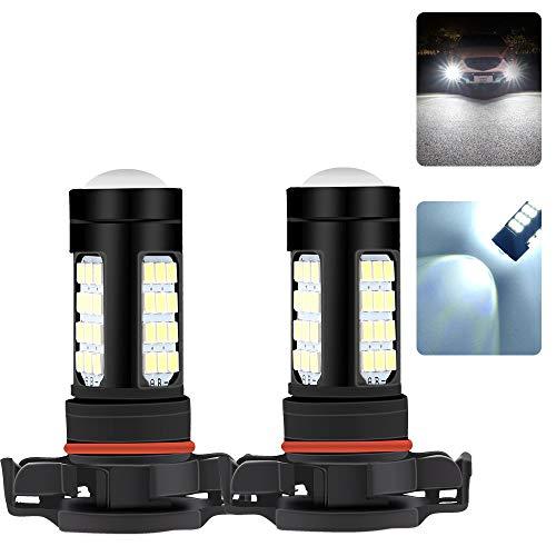 Sidaqi H16 LED La lampadina Fendinebbia Super Luminoso 2835 42 SMD Xeno Bianco 6500K 1500 LM DRL Auto Luci Antinebbia Anteriori 12V (2 Lampade)
