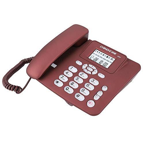 Vaste telefoon, Draadloze vaste telefoon voor thuiskantoor Hotel, Nummerherkenning Telefoon Ingebouwd knoplampje, Plug and play,(Rood)