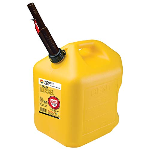 Quick-Flow Spout 8610 Auto Shut Off Diesel Can Yellow