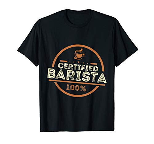 100% zugelassenes Barista T Shirt für Kaffee Fans