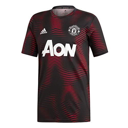 adidas Performance Manchester United Pre-Match T-Shirt Herren schwarz/rot, M