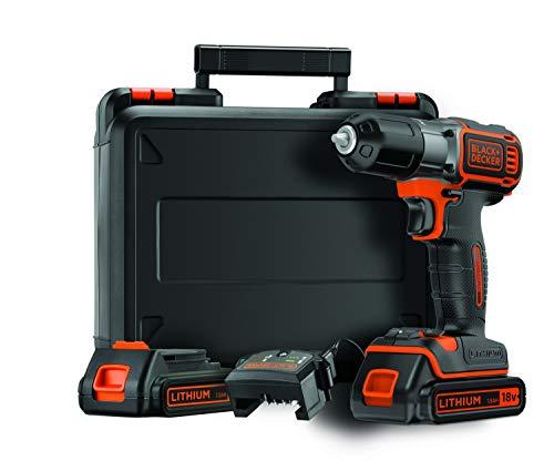 BLACK+DECKER ASD184KB-QW Trapano/avvitatore Autosense 18V - 1.5AH, 0-800 giri/min, con doppia batteria in valigetta