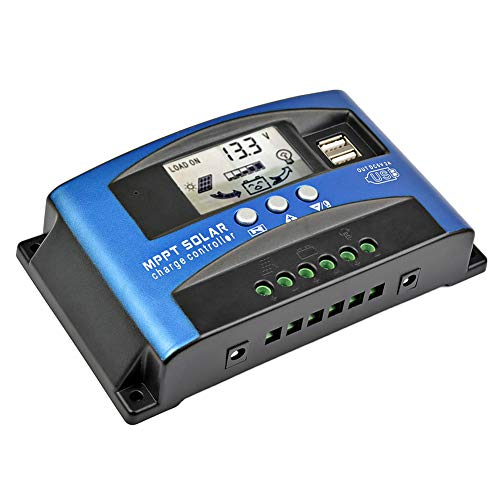 SUNYIMA 60A Solar Charge Controller with LCD Display,Multiple Load Control Modes,New Mppt Technical Maximum Charging Current
