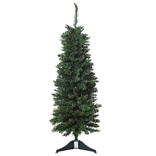 HOMCOM Künstlicher Weihnachtsbaum 1,2 m Christbaum Tannenbaum 212 Äste PVC Grün Ø32 x 120H cm