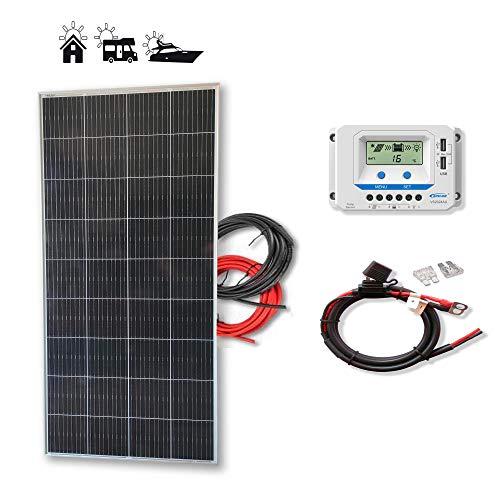 Kit 200W PRO 12V panel solar placa monocristalina células PERC de alta eficiencia