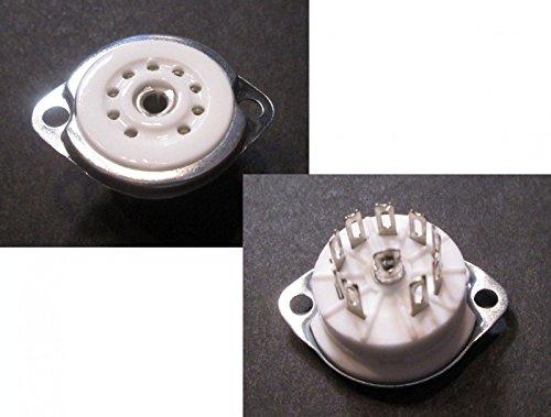 Röhrenfassung Noval Sockel B9A 9-pin Chassis ECC82 ECC88 EL84