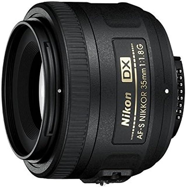 Nikon AF-S DX Nikkor 35 mm f/1.8 G - Objetivo para montura F distancia focal fija 52.5 mm apertura f/1.8G negro - Versión Europea