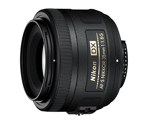 Nikon AF-S DX–Obiettivo per montatura, 35mm, 1.8G, distanza focale fissa 52,5mm, apertura f/1.8, colore: nero