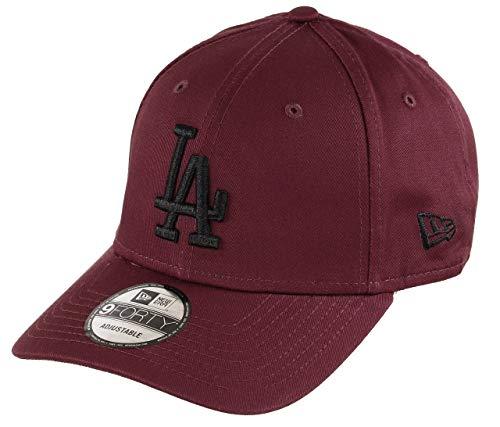 New Era Los Angeles Dodgers 9forty Adjustable Cap MLB Rear Logo Maroon/Black - One-Size