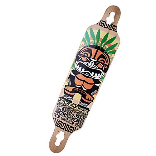 LAMZH Deluxe-Longboards ABEC9 mit 104 * 26cm Ahorndeck Skateboard für Sie zur Auswahl (Color : E)