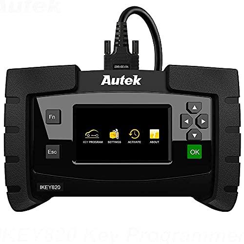 Autek Key Programmer Ikey820 OBD2 Immobilizer Diagnostic Tool for Add Key All Keys Lost Erase Keys Key fob Programmer Tool for Locksmith