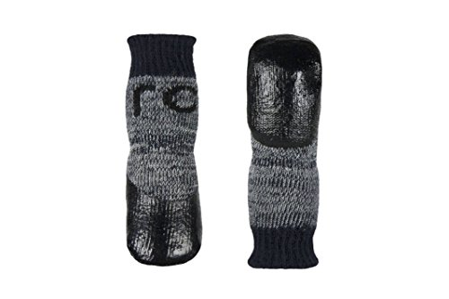 RC Pet Products Sport PAWks Dog Socks, Paw Protection, Large, Charcoal Heather (64205012)
