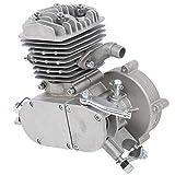 Demeras Motor de Bicicleta Plateado, Motor de Gasolina, Cilindro de Aire, Motor de combustión Interna para Motor de 80CC, Bicicleta eléctrica