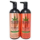 Hempz Pure Herbal Extracts Sweet Pineapple & Honey Melon Volumizing Shampoo & Conditioner 33.8oz Bundle