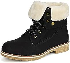 DREAM PAIRS Women's Montreal Black Faux Fur Ankle Bootie Size 10 B(M) US