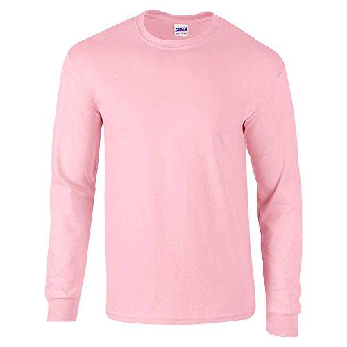 Gildan Camiseta de manga larga para hombre de algodón ultra suave - Rosado -