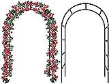 GPFFACAI Arco rampicanti Arco per Piante rampicanti Arco da Giardino autoassemblato, Gazebo in Metallo per Patio da Giardino con Prato da Giardino Esterno, rampicanti, Rose, fiori71