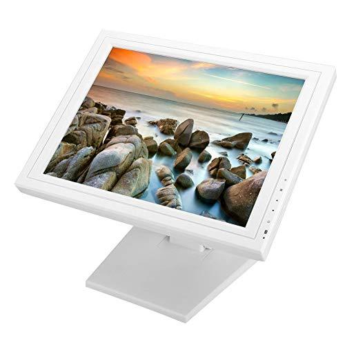 15 inch TFT LCD-scherm 1024 * 768, resistieve touchscreenmonitor, kassa, touchscreenmonitors, VGA voor videosignaal, USB (of RS232) voor touch (wit)