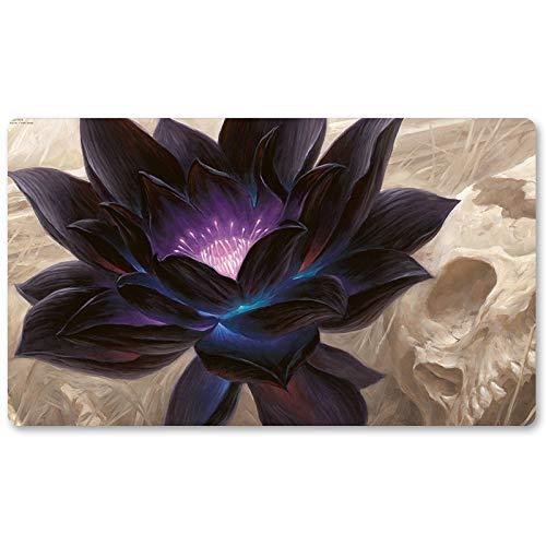 Black-Lotus–Jeu de Société MTG Tapis de Jeu de Table Jeux Taille 60x 35cm Verrouillage Edge Tapis de Souris Tapis de Jeu pour YU-Gi-Oh Pokémon Magic The Gathering