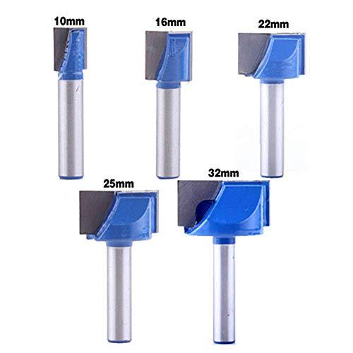 TXHF - Broca de fresadora de 8 mm, punta de carburo, broca de amarre, superficie de tablero, losa para aplanar la madera con punta de carburo 10 16 22 25 32 mm de diámetro