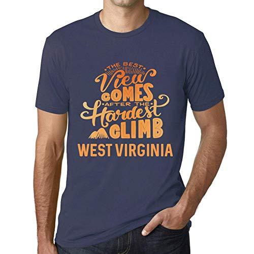 Cityone Uomo Maglietta Tee Vintage T Shirt Best Views Mountains West Virginia Denim