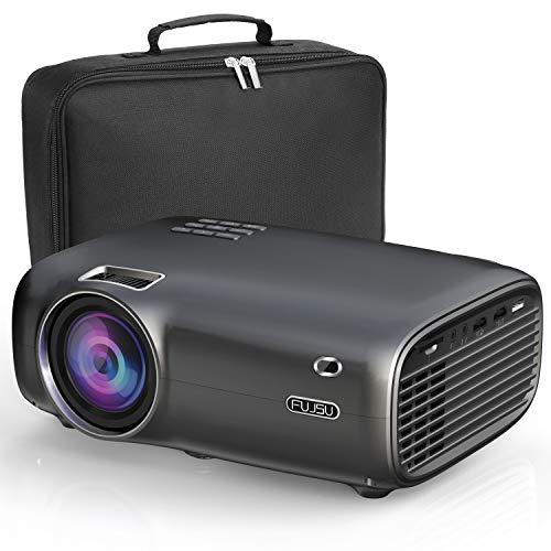 Mini Beamer,Tragbarer Heimkino Beamer unterstützt 1080P Full HD, LED LCD Beamer 6000 Lumen max 200