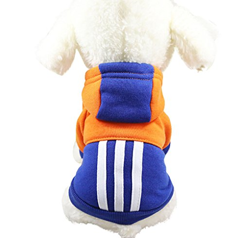 Fossrn Ropa Perro Pequeño Invierno Cachorro Mascota Sudaderas con Capucha Abrigo