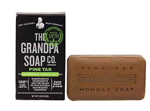 Grandpa's Pine Tar Soap 4.25 Ounce (Pack of 2)