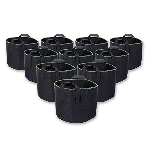 Schramm® 10 Stück 30 Liter Pflanzsäcke aus Vliesstoff Höhe ca. 38cm Pflanzsack aus Fliesstoff Pflanzgefäß Pflanzbehälter Pflanzbeutel