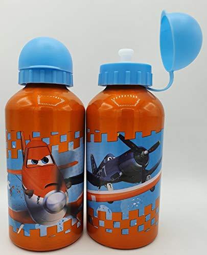 ML Una Botella de Agua de Aluminio para niños y niñas Pack de 2 Botella de Agua de Cristal con Funda para niños y niñas 400ml