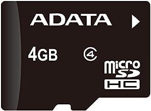 ADATA 4GB microSDHC Class 4 Memory Card with Adaptor (AUSDH4GCL4-RA1)