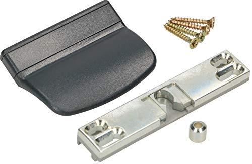 KOTARBAU Picaporte para puerta de balcón, práctico tirador para puerta de balcón, 6. Varios colores, seguro para fumadores, terrazas, puertas, cierre universal (antracita)