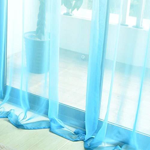 PENVEAT 3D-Druck Verdunkelungsvorhänge Farbverlauf Fenster Vorhänge Behandlung für Wohnzimmer Küche Schlafzimmer Vorhänge Vorhänge, blau Tüll, W350xL265cm, 2 Haken Oben