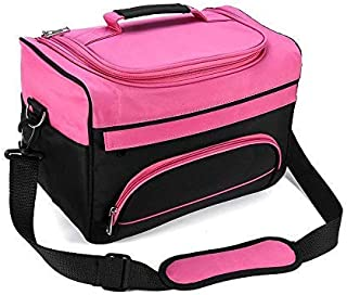 Professional Cosmetics Beauty Hairdressing Styling Bag, Multi-functional Hair Makeup Salon Hairdresser Toiletry Organizer Tool Bag Case Holder Box with Strap for Hair Stylist Shoulder Carrying
