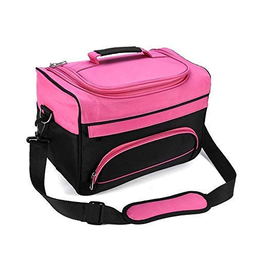 BOOFIRE Professional Cosmetics Beauty Hairdressing Styling Bag, Multi-functional Hair Makeup Salon Hairdresser Toiletry Organizer Tool Bag Case Holder Box with Strap for Hair Stylist Shoulder Carrying