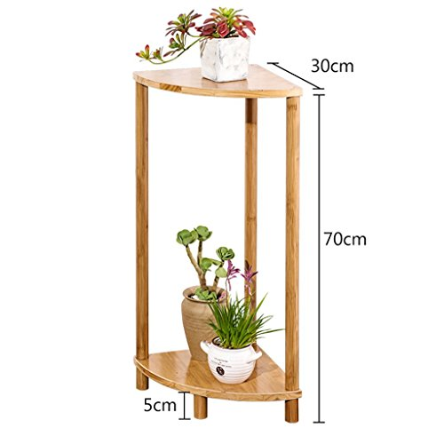 GRY Support simple de fleur de support de fleur de bambou simple moderne, support de fleur de salon de fleur de plate-forme succulente de fleur,70 * 30 * 30 cm